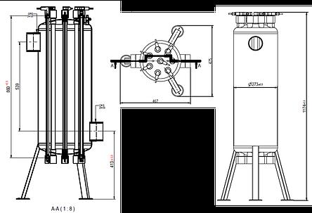 УФ установка обеззараживания воды Aqualine ES -150 PRO ( произв-ть 50 м3/час), фото 2