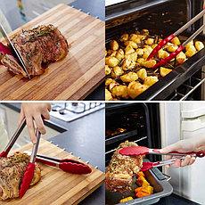 Кухонные щипцы цвет красный, фото 3