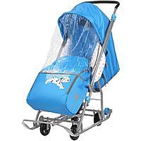 Санки коляска Ника Disney baby 1 Далматинец голубой