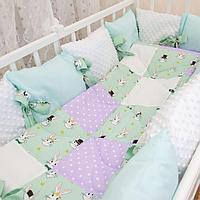 Детское постельное белье 5 предметов Белый кролик, фото 1