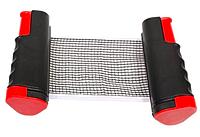 Складная сетка для настольного тенниса автоматическая с кнопочным креплением Pinbo