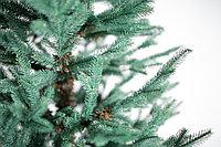 Ель искусственная с литой хвоей голубая или зеленая 210 см, фото 5