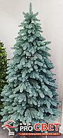 Ель искусственная с литой хвоей голубая или зеленая 240 см, фото 2