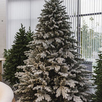 Искусственная ель снежная Мария (Ель заснеженная ветки вниз) высота 150 см, фото 4