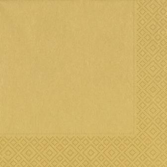Салфетки 33х33см, 3 сл., золот., Бумага, 20 шт, фото 2