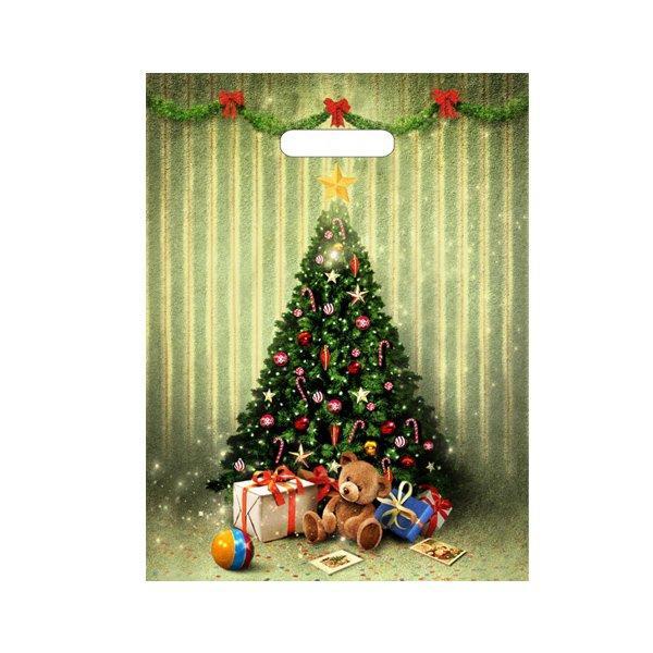 "Пакет (мешок) проруб ПВД 40х31см, 30мкм, ""Мишутка с подарками"" лам. , 50 шт"