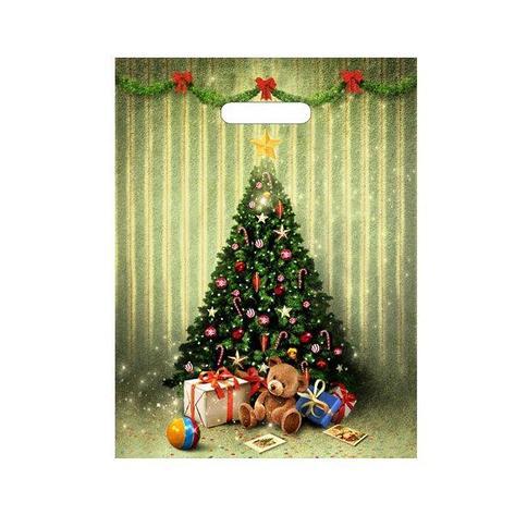 "Пакет (мешок) проруб ПВД 40х31см, 30мкм, ""Мишутка с подарками"" лам. , 50 шт, фото 2"