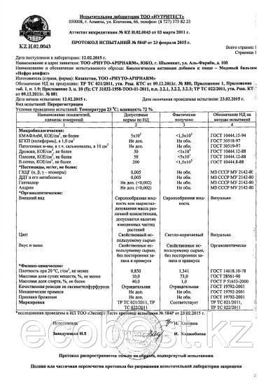 Нефро-апифит Бальзам медовый почечный - фото 3