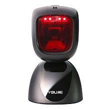 Honeywell YJ-HF600-R1-USB стационарный сканер штрих-кода Youjie HF600, 2D, кабель USB 2,7 м., чёрный