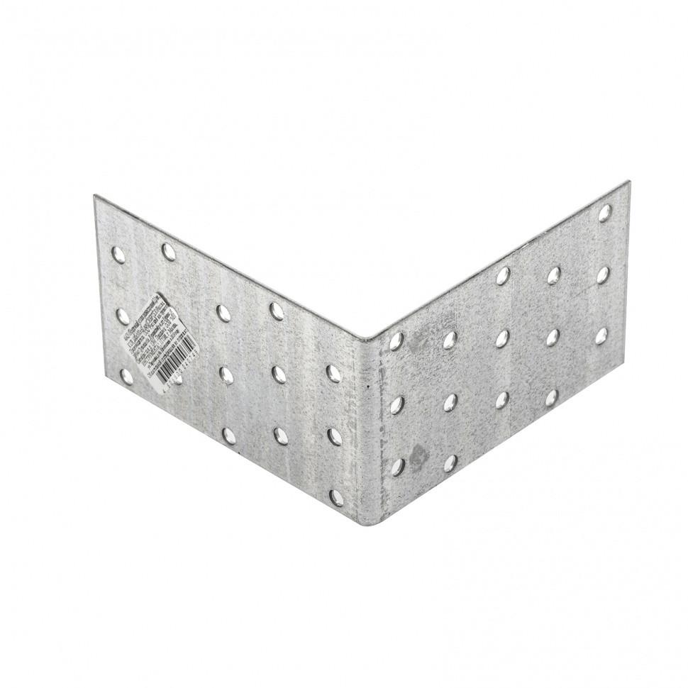 Крепежный уголок равносторонний 2 мм, KUR 100 х 100 х 60 мм Россия Сибртех