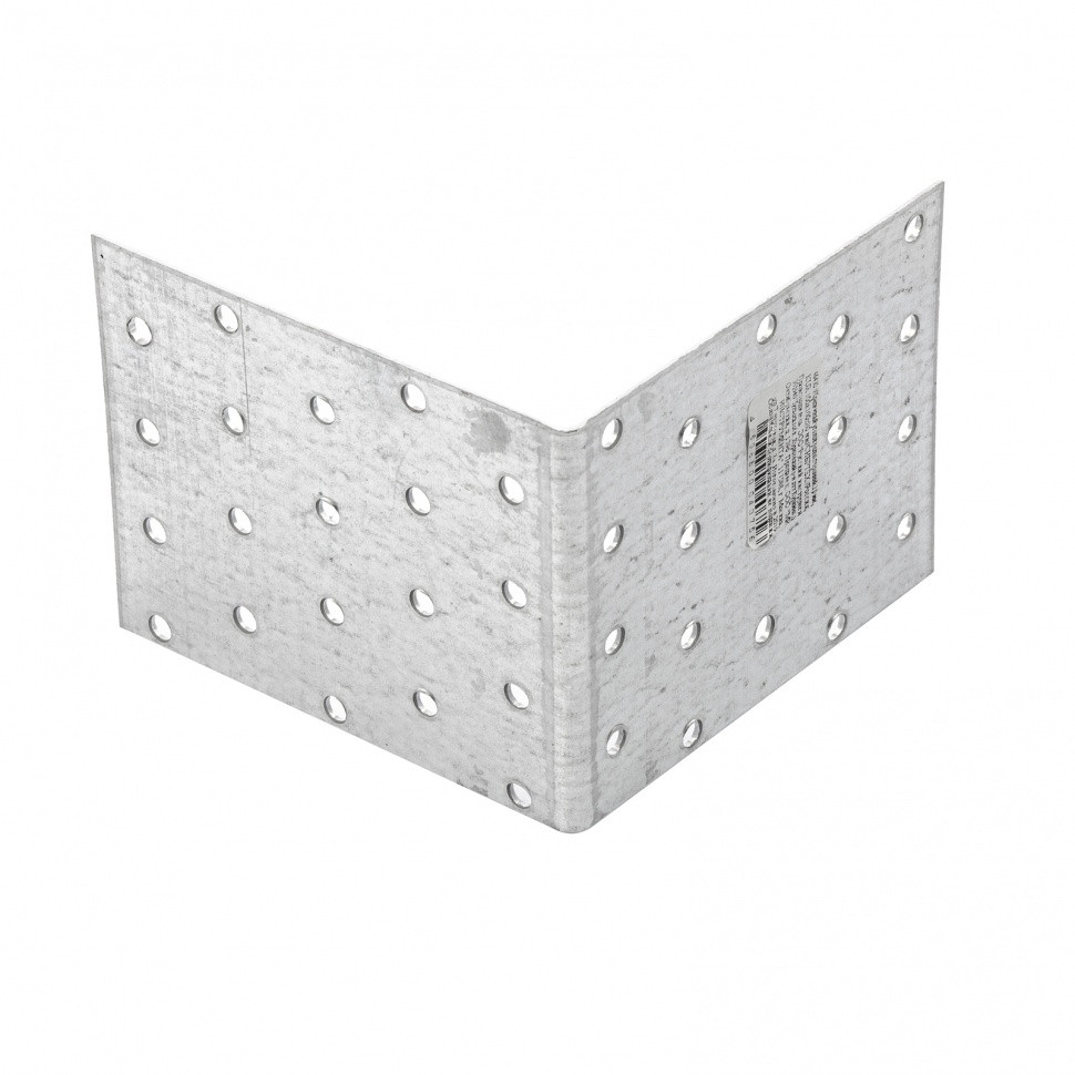 Крепежный уголок равносторонний 2 мм, KUR 100 х 100 х 80 мм Россия Сибртех