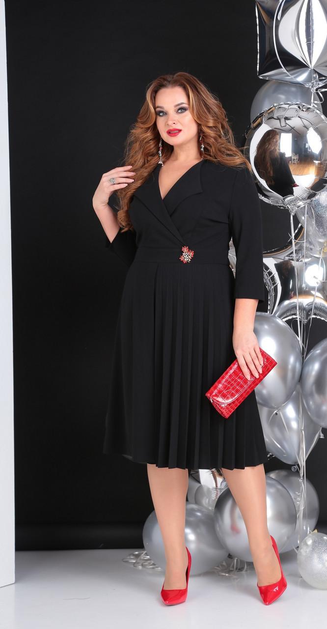 Платье Sandyna-13637/2, черный, 48