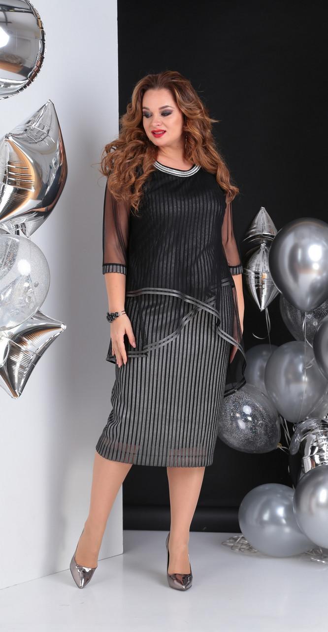 Платье Sandyna-13647, серебро, 56