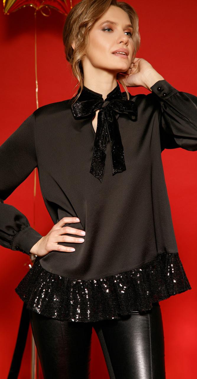 Блузка LIBERTY-6839, черный, 42
