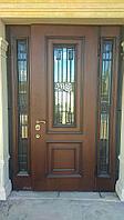 Металлические двери двухстворчатые со стеклом