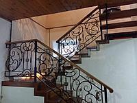 Кованные перила с лестницей, фото 1