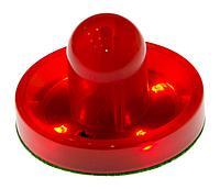 Бита для аэрохоккея LED Atomic Top Shelf / Lumen-X Laser D96 мм, красная
