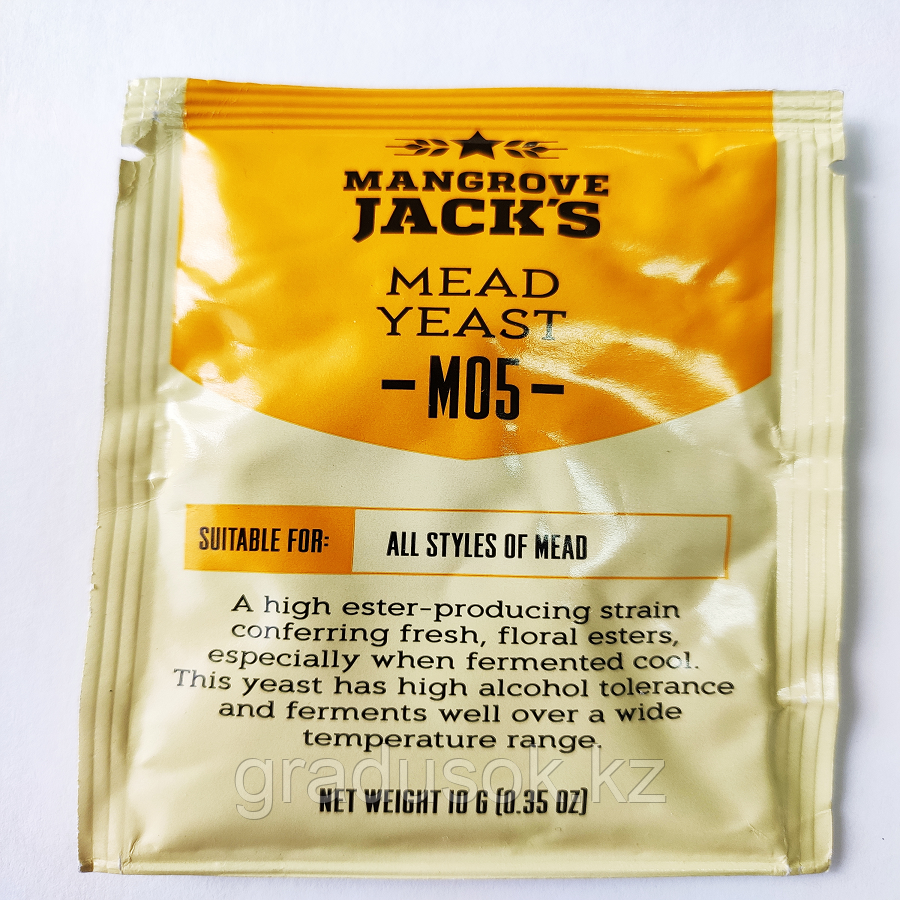 "Дрожжи для медовухи Mangrove jacks ""Mead M05"" 10 г"