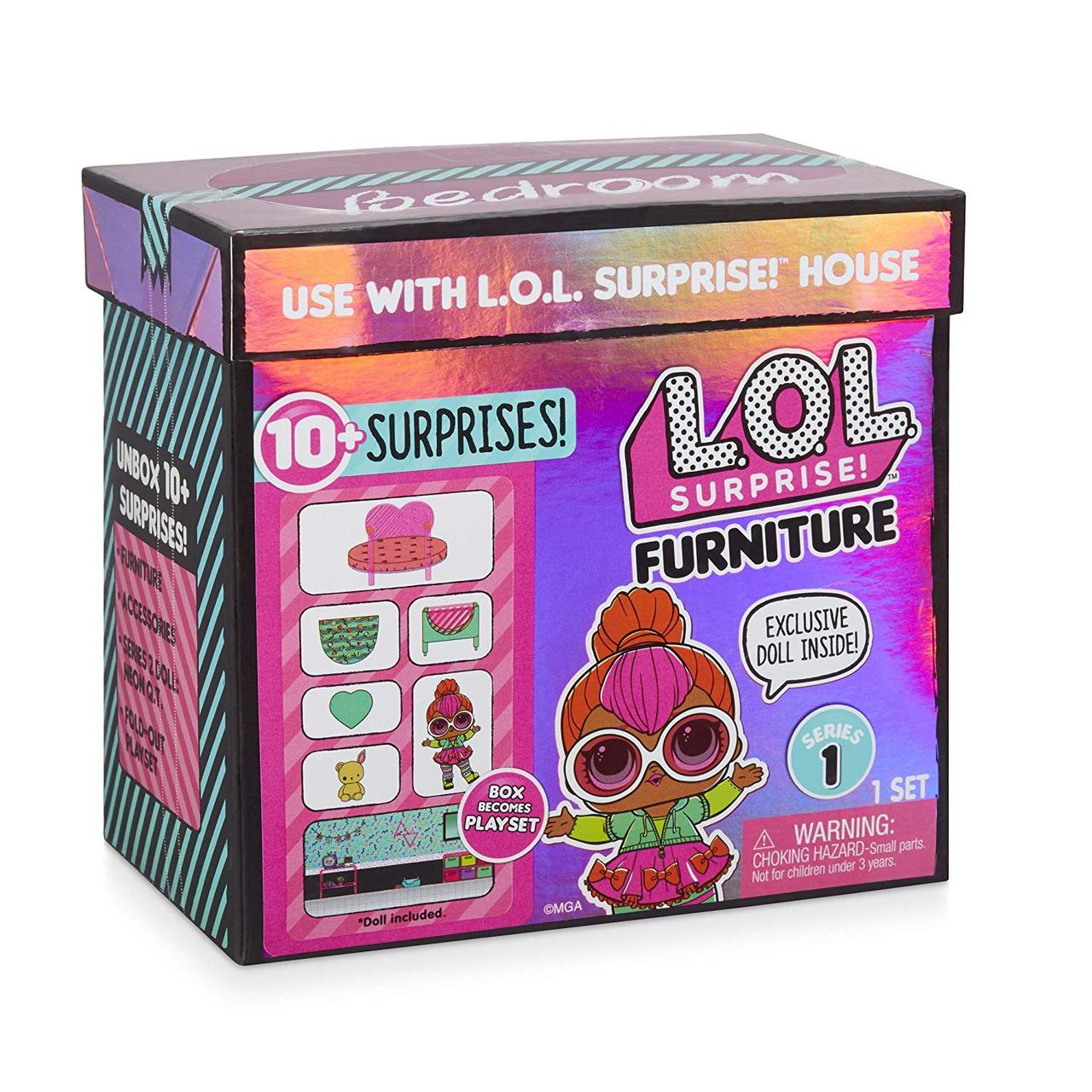"""LOL Surprise - Игровой набор ЛОЛ """"Спальня"""" с эксклюзивной куклой Neon QT (10 сюрпризов)"""