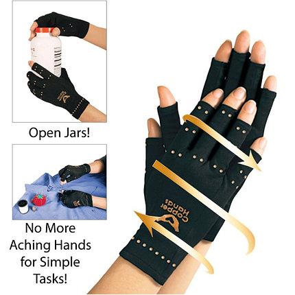 Перчатки от артрита компрессионные Copper Hands, фото 2