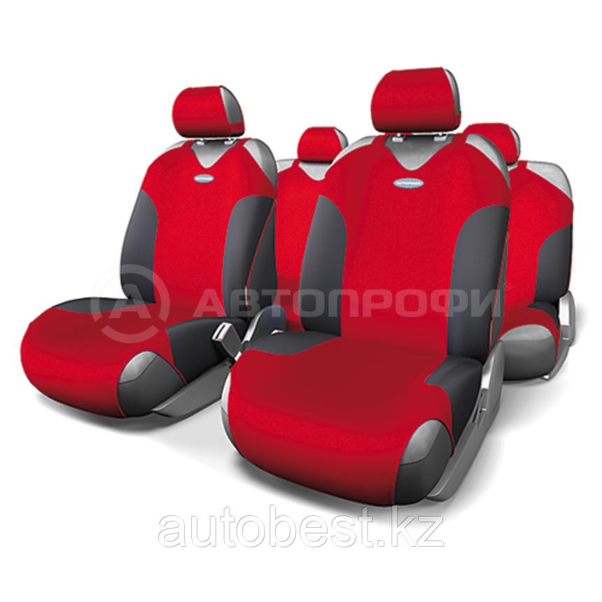 Майки на сиденья FORMULA FOR-802. Серый/Красный/Синий