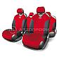 Майки на сиденья FORMULA FOR-802. Серый/Красный/Синий, фото 2