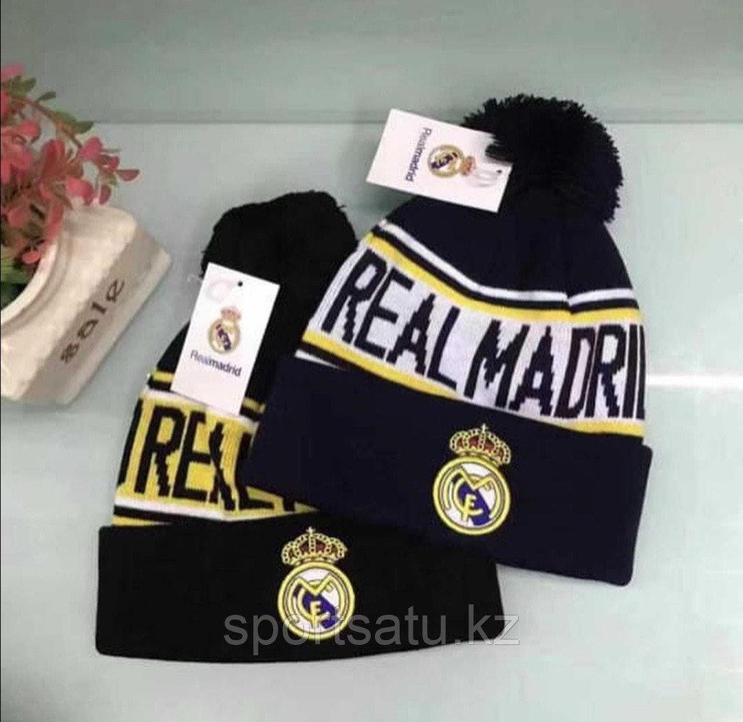 Шапка с помпоном ФК Реал Мадрид
