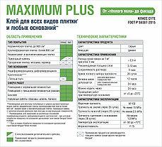 MAXIMUM PLUS, Клей для плитки, 25 кг, Bergauf, фото 3
