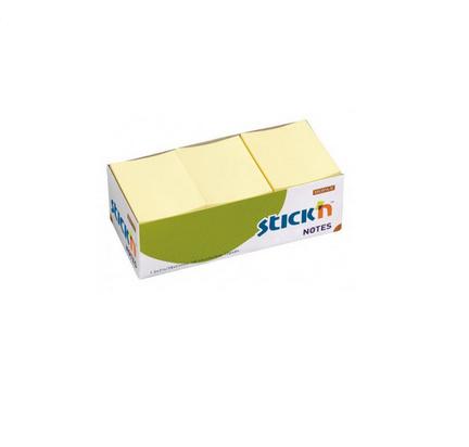 Клейкие листки STICK`N 38 х 51 мм  желтые, 100 листов