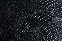 Кожаные панели 2D ЭЛЕГАНТ, Crocodile Black, 1200х2700 мм Казахстан