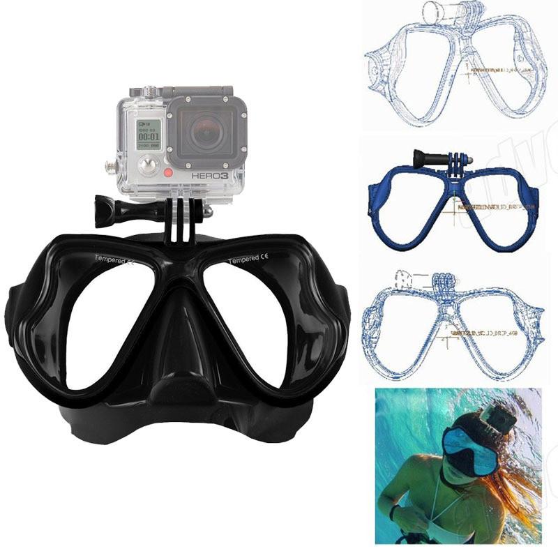 Подводная маска с креплением для GoPro 7/6/5/4/3+/3/SJCAM/Xiaomi