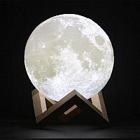 Ночник «Луна 3D» на подставке, фото 1