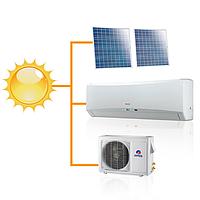 Кондиционер настенный на солнечных панелях Gree-12: Solar series R410A GWH12TB-K3DNA1F (комплектуется медными, фото 1