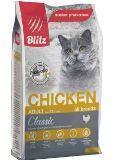 BLITZ Курица, 400г, сухой корм для взрослых кошек ADULT CHICKEN