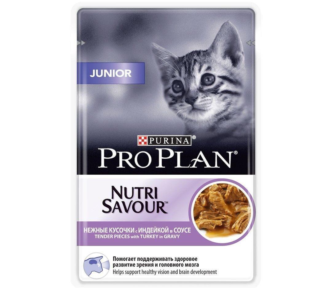Влажный корм для котят ПроПлан Индейка в соусе