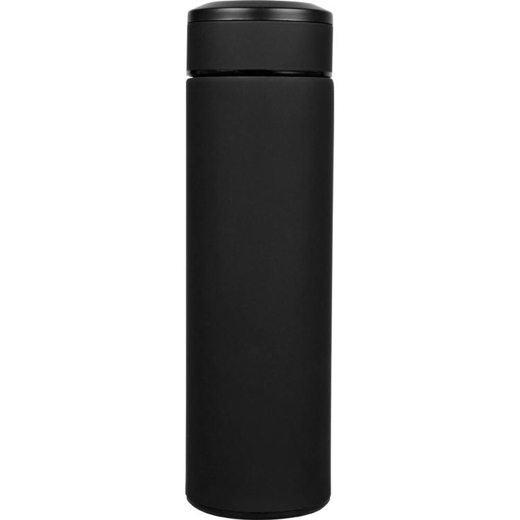 Термос   с покрытием soft-touch   Черный