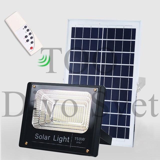 Прожектор на солнечных батареях 150W. Солнечный светодиодный светильник LED 150 Вт.