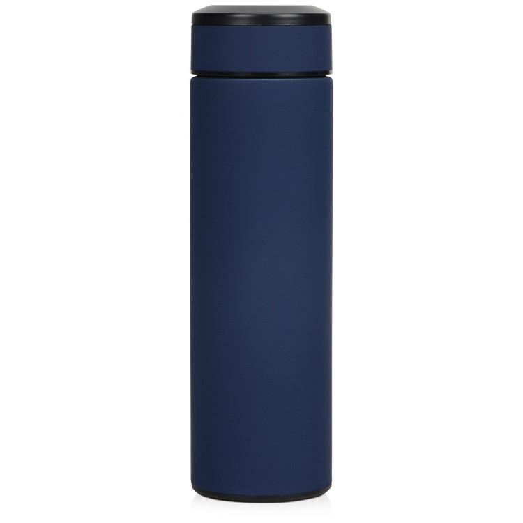 Термос   с покрытием soft-touch   Синий