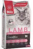 BLITZ Ягненок, 400г сухой корм для взрослых кошек ADULT CATS LAMB