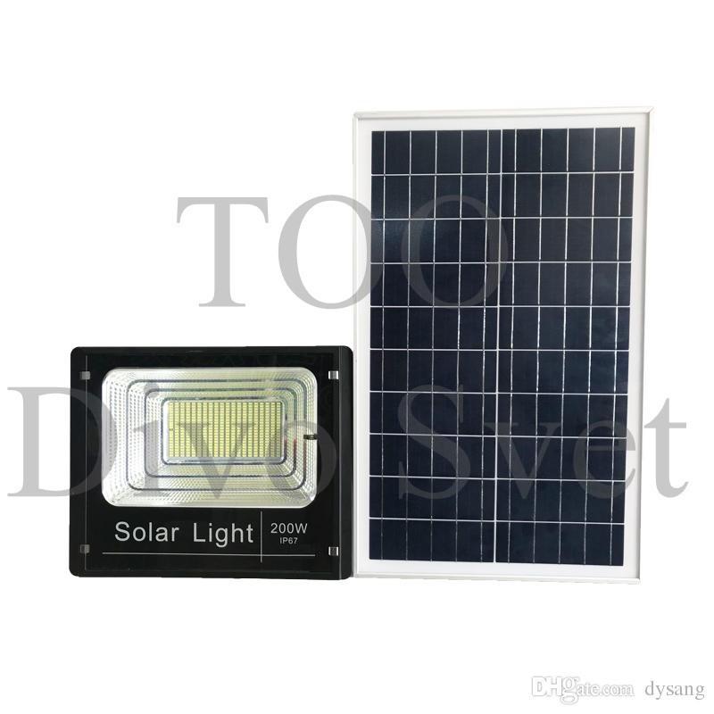 Прожектор на солнечных батареях 200W (2 ВАРИАНТА). Солнечный светодиодный светильник LED 200 Вт.