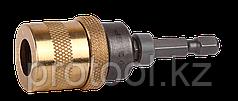 """Адаптер ЗУБР """"ЭКСПЕРТ"""" магнитный для бит, фиксатор, ограничитель глубины вворачивания шурупов, 60мм"""