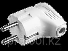 Вилка MAXElectro электрическая, 16А/220В, угловая, с заземлением, черная, STAYER