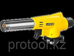 STAYER MaxTerm MG100 газовая горелка с пъезоподжигом, на баллон с цанговым соединением, 1300°С