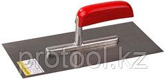 """Гладилка STAYER """"MASTER"""" стальная с деревянной ручкой, зубчатая, 4х4мм"""