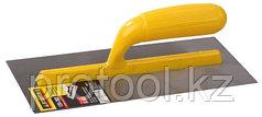 """Гладилка STAYER """"MASTER"""" стальная с пластмассовой ручкой, зубчатая, 4х4мм, 120х280мм"""