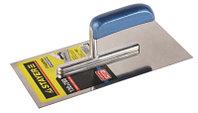 """Гладилка STAYER """"PROFI"""" нержавеющая с деревянной ручкой, зубчатая, 4х4мм"""
