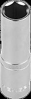 """Головка торцовая ЗУБР """"МАСТЕР"""" (1/2""""), удлиненная, Cr-V, FLANK, хроматированное покрытие, 15мм"""