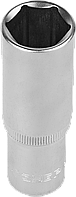 """Головка торцовая ЗУБР """"МАСТЕР"""" (1/2""""), удлиненная, Cr-V, FLANK, хроматированное покрытие, 19мм"""