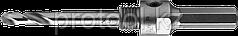 """Державка ЗУБР """"ПРОФИ"""" для коронки универсальной, твердосплавные резцы, d>22мм, HEX, сверло HSS, 8х100мм"""