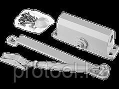 Доводчик дверной STAYER, для дверей массой до 80 кг, цвет белый